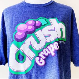 Crush Grape Soda Drink Savvy T-Shirt Shirt Tee XL